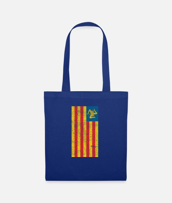 Proud Bags & Backpacks - Sicilian Pride - Sicilia - Sicilian Flag - Tote Bag royal blue