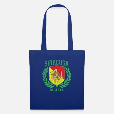 Cefalü Sicilia Flag and Shield with Trinacria - Siracusa - Tote Bag