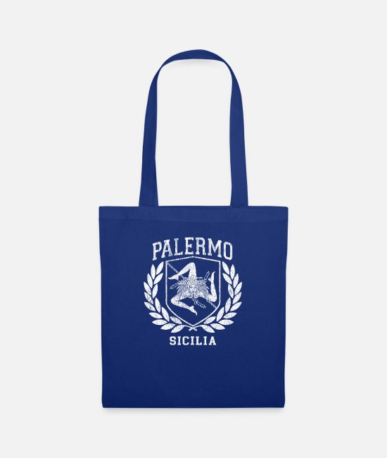 Proud Bags & Backpacks - Sicilia Flag and Shield with Trinacria - Palermo - Tote Bag royal blue