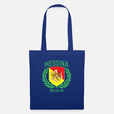 Cefalü MESSINA: Sicilia Flag and Trinacria Shield Design - Tote Bag