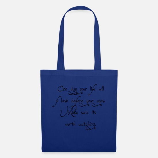 Graffiti Bags & Backpacks - Life before your eyes eu - Tote Bag royal blue
