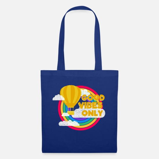 Harmony Bags & Backpacks - Good Vibes Only (circles) - Tote Bag royal blue