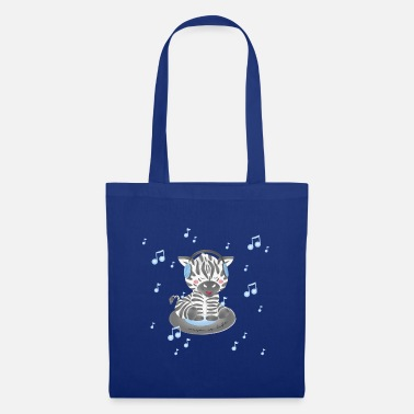 Zebra - music is life - Tote Bag