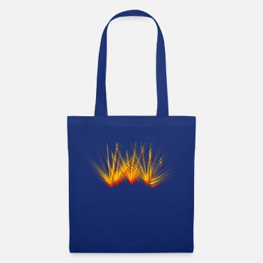 Fire beam laser colorful flame party - Tote Bag