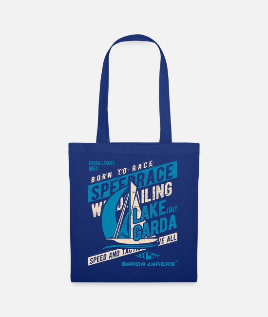 Sail Boat Bags & Backpacks - Garda Lakers Born To Race - Tote Bag royal blue