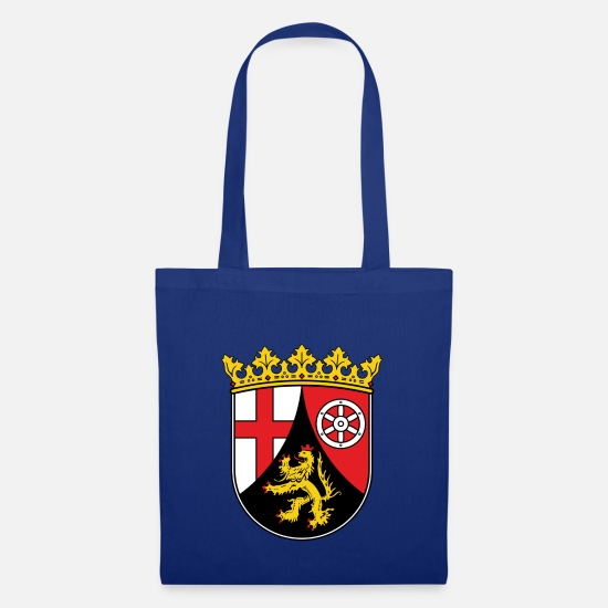 Rhinelandpalatinate Bags & Backpacks - Rhineland Palatinate state coat of arms - Tote Bag royal blue