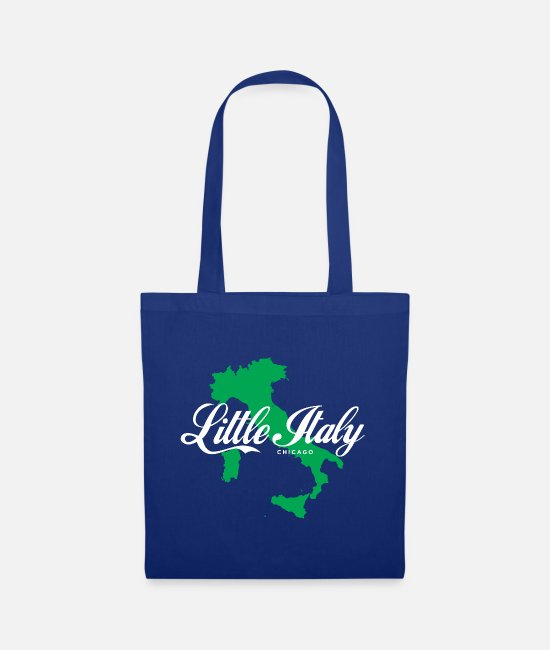 Proud Bags & Backpacks - Little Italy Chicago - Tote Bag royal blue