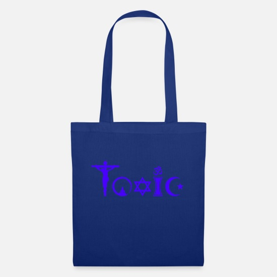 Atheism Bags & Backpacks - Toxic Purple - Tote Bag royal blue