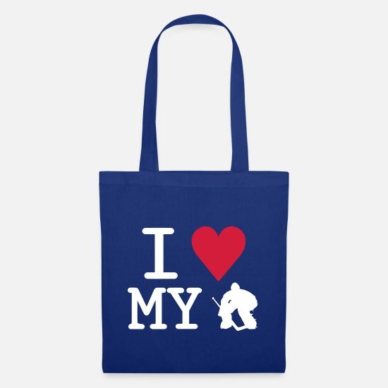 Sport Bags & Backpacks - I Love My Goalie - Tote Bag royal blue