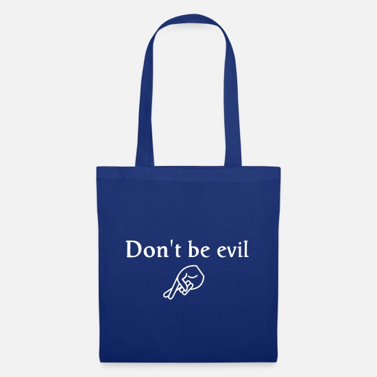 Fingers Bolsas y mochilas - don't be evil ( search engine slogan) - Bolsa de tela azul intenso