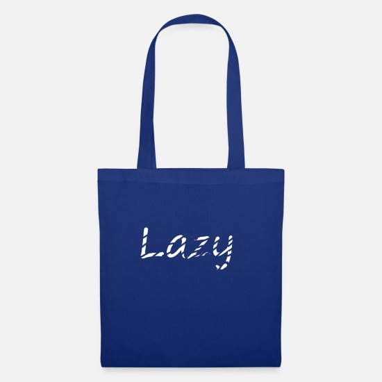 Sleep Bags & Backpacks - lazy - Tote Bag royal blue