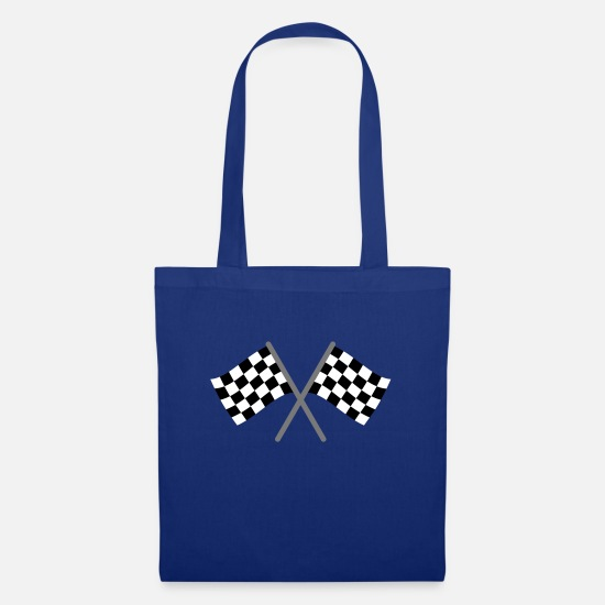 Ziel Bags & Backpacks - Chequered Flag Racing - Tote Bag royal blue