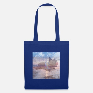 Bulldog French Bulldog Sun Sea Beach - Tote Bag