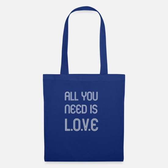 Love Bags & Backpacks - All you need is love - Tote Bag royal blue