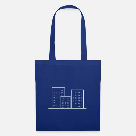 Highrise Building Bags & Backpacks - Skyscrapers - Tote Bag royal blue