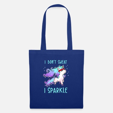 Unicorn I Don't Sweat I Sparkle Unicorn Gym Workout - Tote Bag