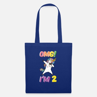 Turn On Birthday 2 Years Unicorn, Dabbing T-Shirt Two - Tote Bag