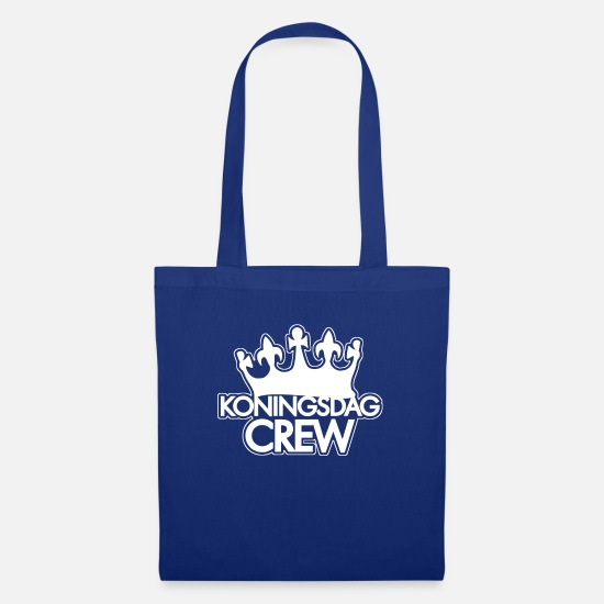 Dutch Bags & Backpacks - King's Day Team Koningsdag Crew Kings Day Crown - Tote Bag royal blue
