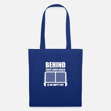 Ice Hockey Helmet Behind every good goalie is at empty net ice hockey - Tote Bag