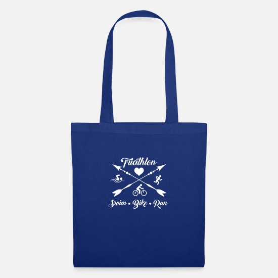 Birthday Bags & Backpacks - Triathlon Swim Bike Run - Tote Bag royal blue