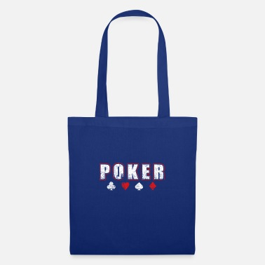 POKER lettering All in cards Gift idea - Tote Bag