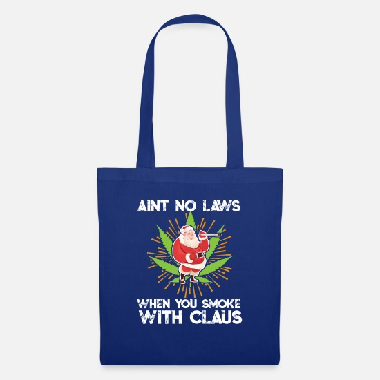 Hemp Bags & Backpacks - Kiffender Santa Claus Santa Claus Weed THC - Tote Bag royal blue