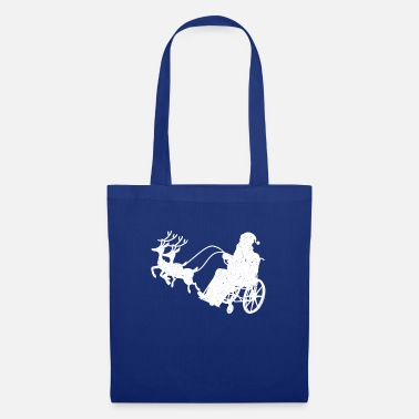 Wheel Artistic Wheelchair PWD Graphic Design Santa Wheel - Tote Bag