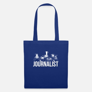 Journalist Artistic Journalist Graphic Design Journalism Came - Stoffbeutel