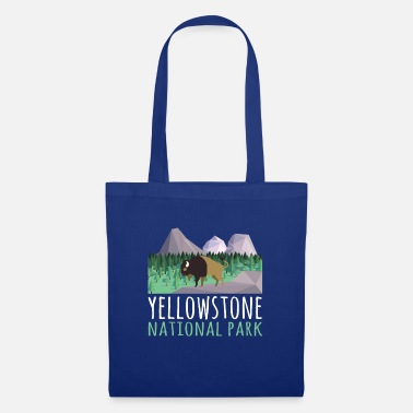 Helped Dome US Bison Buffalo Yellowstone National Park - Tote Bag