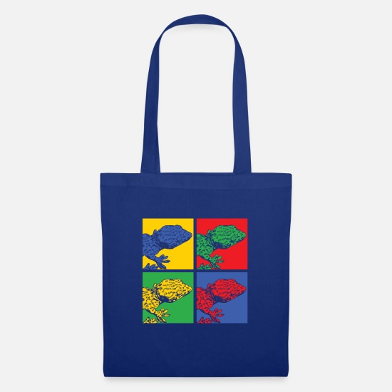 Gecko Bags & Backpacks - Pop Art Gecko - Tote Bag royal blue