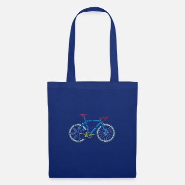 Glass Underwear Bicycle anatomy for bike and cycling lovers - Tote Bag