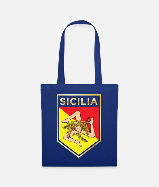 Faded Bags & Backpacks - Sicilan Shield - Tote Bag royal blue
