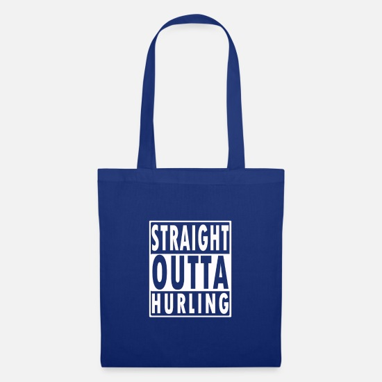 Irish Bags & Backpacks - Funny Straight outta Hurling gift for Irish - Tote Bag royal blue