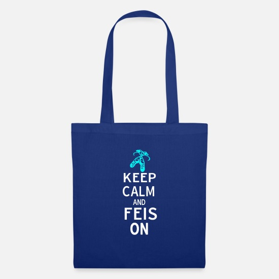 Irish Dancing Bags & Backpacks - Funny Irish Dance Themed Gift for Girls Keep Calm - Tote Bag royal blue