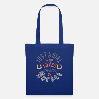 Clock Cute Just a girl who loves jesus and horses gift - Tote Bag