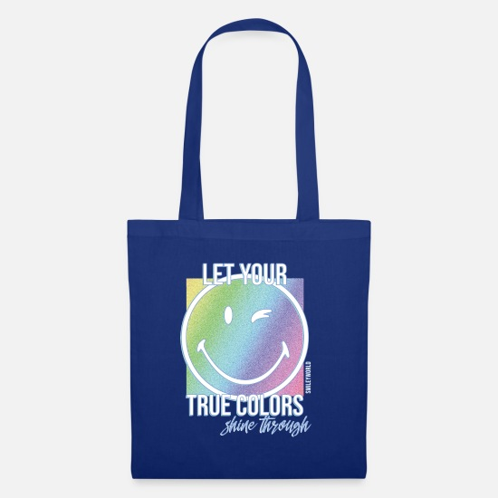 Officialbrands Bags & Backpacks - SmileyWorld Let Your True Colors Shine Through - Tote Bag royal blue