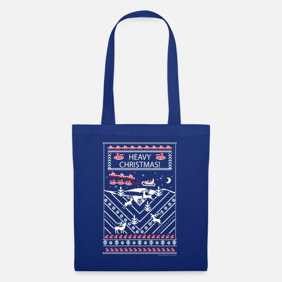 Ugly Christmas Bags & Backpacks - World Of Tanks Heavy Christmas - Tote Bag royal blue