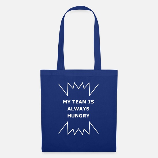 Ziel Bags & Backpacks - My Team Is Always Hungry - Tote Bag royal blue
