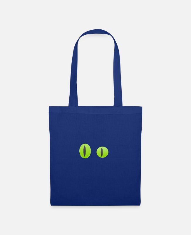 Party Bags & Backpacks - green eyes - Tote Bag royal blue