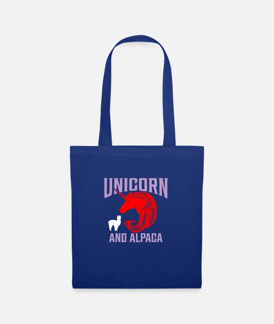 Gay Pride Bags & Backpacks - Unicorn and alpaca - Tote Bag royal blue