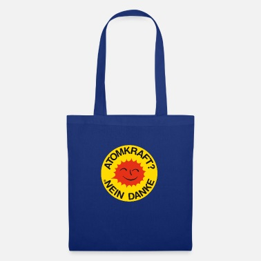 Atomic Energy Nuclear power? No thank you! Logo smiling sun - Tote Bag