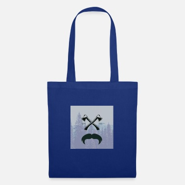 Glass Underwear Hipster responsibility beard glasses ax forest - Tote Bag