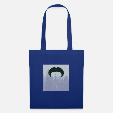 Glass Underwear Hipster beard beard in the forest mustache - Tote Bag