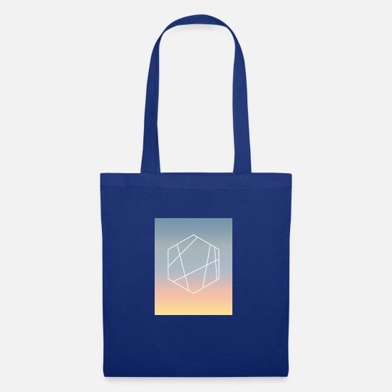 Geometry Bags & Backpacks - summer evening - Tote Bag royal blue
