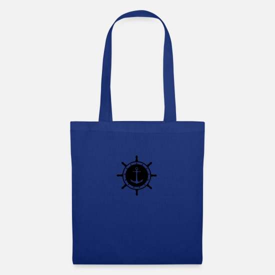 Pirate Bags & Backpacks - helm anchor 1 - Tote Bag royal blue