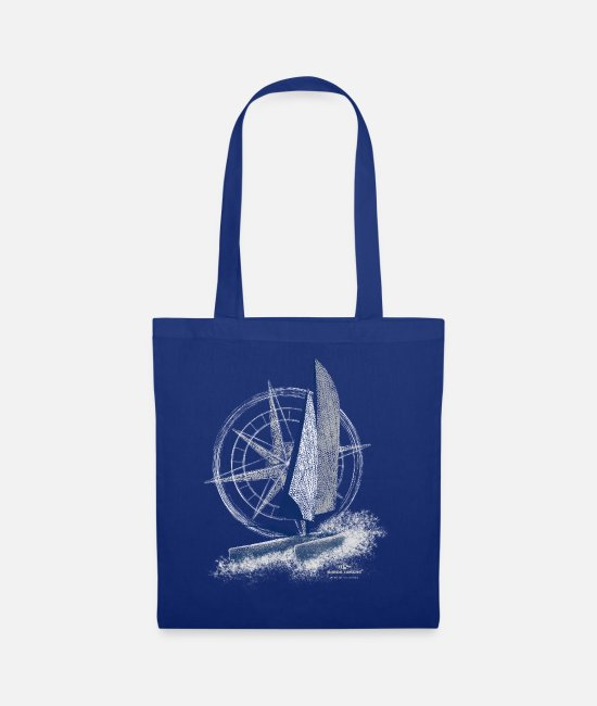 Sail Boat Bags & Backpacks - Garda Lakers catamaran compass - Tote Bag royal blue