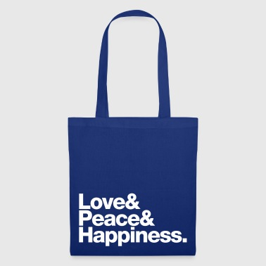 love peace happiness - Tote Bag