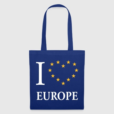 I Love Europe / I Heart Europe (Europa) - Borsa di stoffa