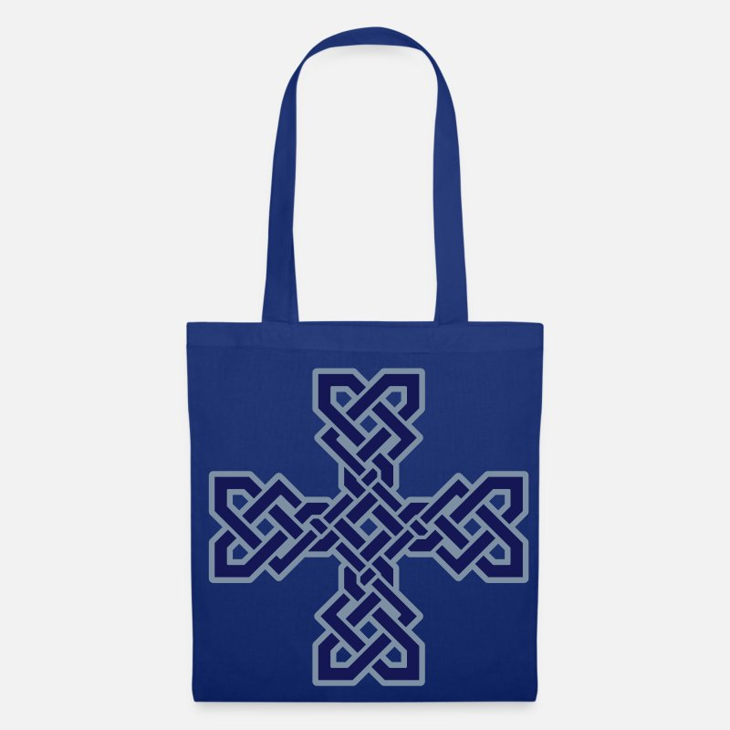 Celtic Bags & Backpacks - Celtic Cross - Tote Bag royal blue