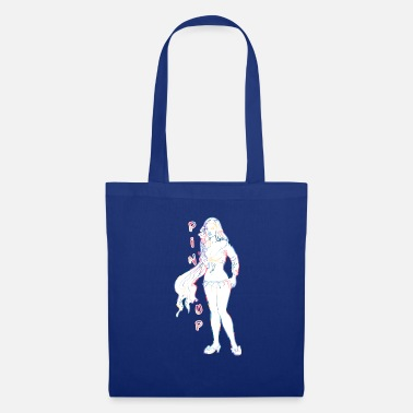 Topper pin-up girl met topper - Tas van stof